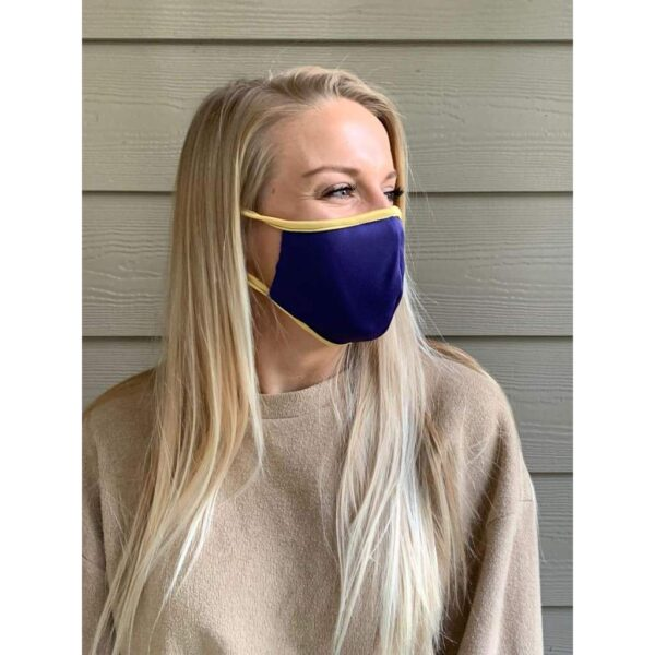 Purple/Gold Microfiber Mask - Mask Me Now (MMN)