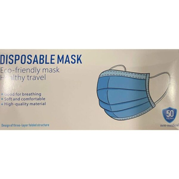 3-Ply Disposable Masks - Pack of 50